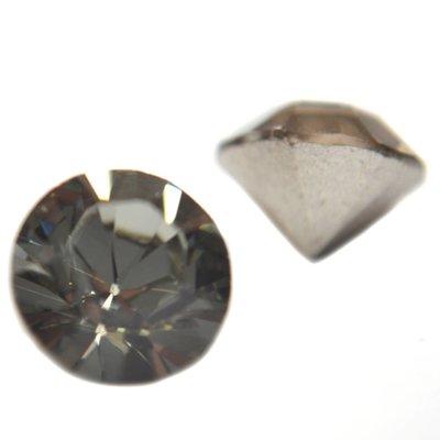 Grijs Swarovski puntsteen SS39 Black Diamond