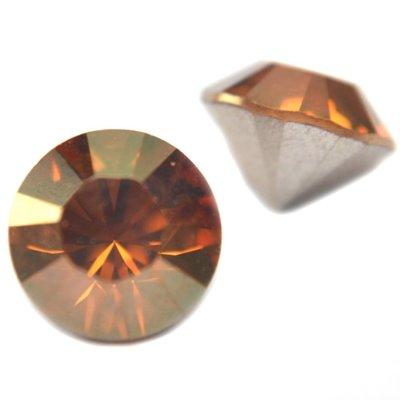 Bruin Swarovski puntsteen SS39 Crystal Copper