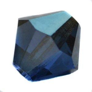 Blauw Glaskraal SQ facet conisch sapphire blauw DB 8mm