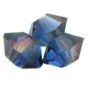 Blauw Glaskraal SQ facet spacer sapphire blauw DB 3x5mm