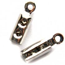 Zilver Veterklem zilver 10x3mm per 10 stuks