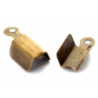 Antiek Goud Brons Veterklem metaal brons 12x6mm per 7 stuks