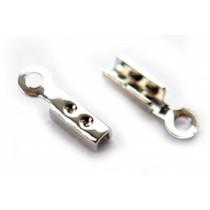 Zilver Veterklem zilver 8x2mm per 14 stuks