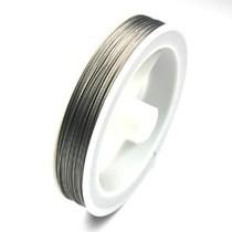 Zilver Gecoat ijzerdraad 0.45mm