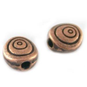Koper Kraal hartje metaal koper 6mm
