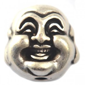 Zilver Kraal buddha metaal zilver DQ 20mm