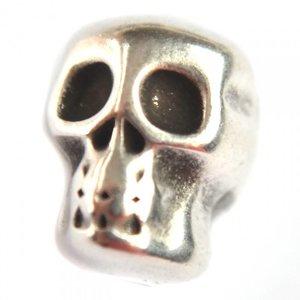 Zilver Kraal skull metaal zilver DQ 8x10mm