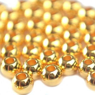 Goud Gladde ronde kraal metaal goud DQ 4mm