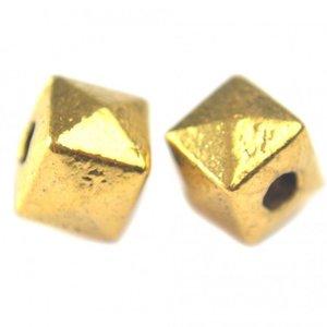 Goud Kraal facet piramide Kraal metaal goud 8mm