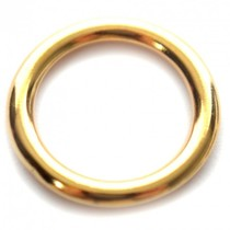 Goud Ring metaal goud DQ 17mm