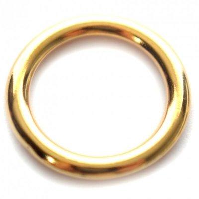 Goud Ring metaal goud DQ 17mm
