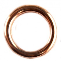 Rosegoud Ring metaal Rosegoud DQ 17mm