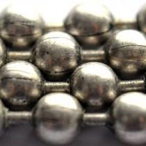 Zilver Ballchain antiek zilver 1.0mm