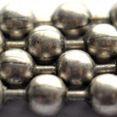 Zilver Ballchain antiek zilver 3.0mm