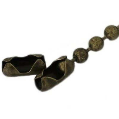 Antiek Goud Brons Ballchain brons 2.0mm