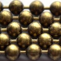 Antiek Goud Brons Ballchain brons 3.0mm