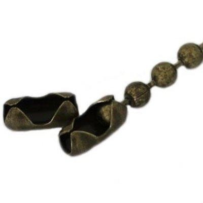 Antiek Goud Brons Ballchain slotje brons