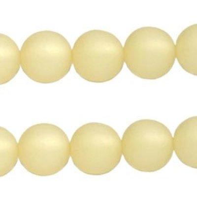 Geel Polaris kralen mat rond golden shadow 6mm