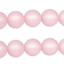 Roze Polaris kralen mat rond light rose 6mm