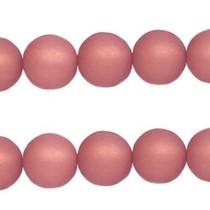 Roze Polaris kralen mat rond antique pink 6mm