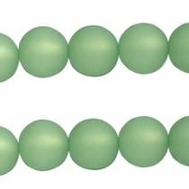Groen Polaris kralen mat rond crysolite green 6mm