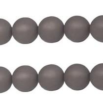 Grijs Polaris kralen mat rond silver night 6mm
