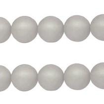 Grijs Polaris kralen mat rond black diamond 6mm