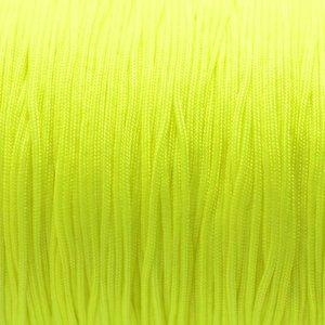 Geel Satijnkoord fluor geel 1mm - per meter