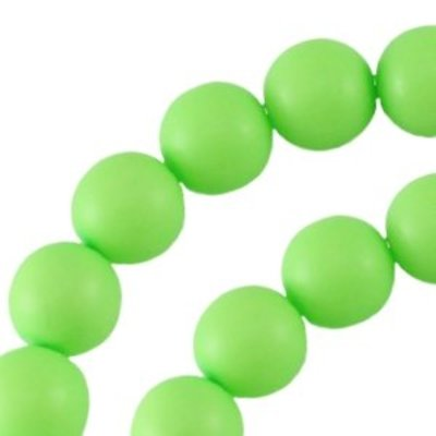 Groen Glasparel rond fluor groen 6mm