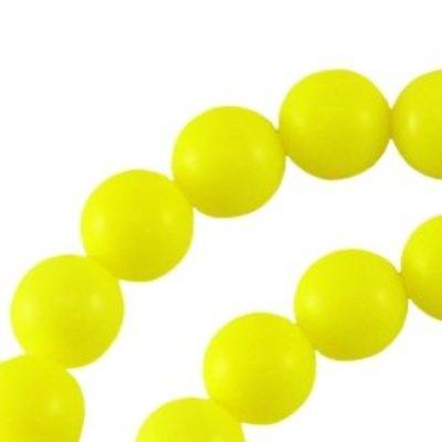 Geel Glasparel rond fluor geel 8mm