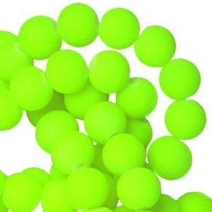Groen Matte ronde kralen fluor groen 6mm