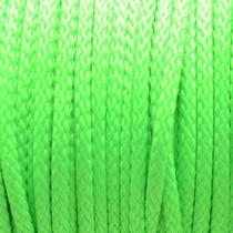 Groen Rondgevlochten nylon koord fluor groen 4mm  - per meter