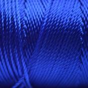 Blauw Macrame koord fluor donker blauw 0,8mm