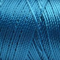 Blauw Macrame koord fluor aqua blauw 0,8mm