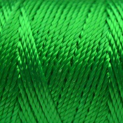 Groen Macrame koord fluor donker groen 0,8mm