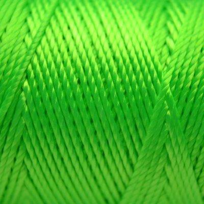 Groen Macrame koord fluor licht groen 0,8mm