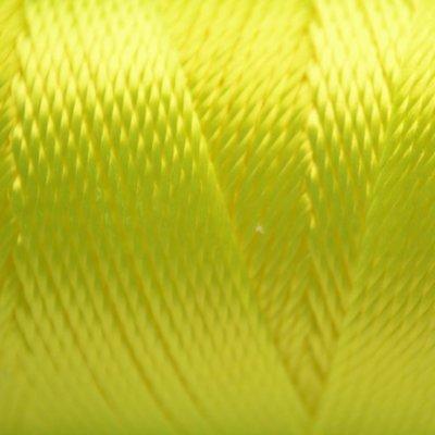 Geel Macrame koord fluor donker geel 0,8mm
