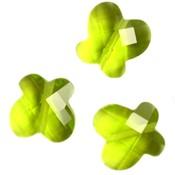 Groen Quartz kraal vlinder appeltjes groen 12mm