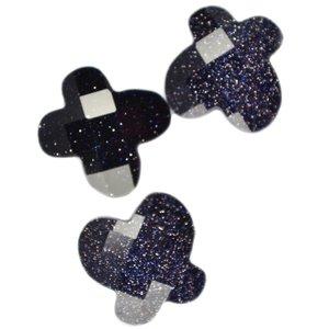 Blauw Quartz kraal vlinder donker blauw glitter 12mm