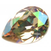 Groen Swarovski druppel Crystal Luminous Green 14x10mm