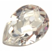 Wit Swarovski druppel Crystal 14x10mm