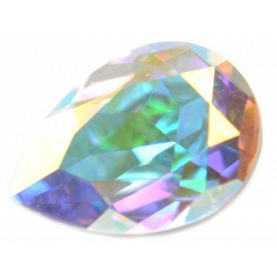 Wit Swarovski druppel Crystal AB 14x10mm