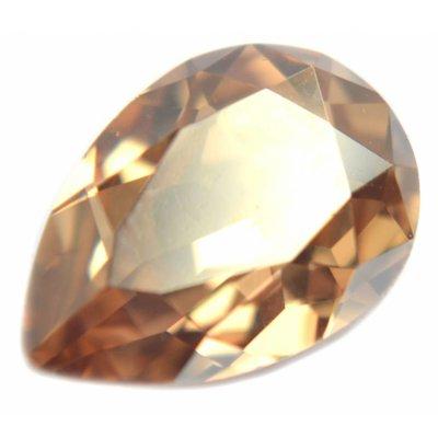 Bruin Swarovski druppel Crystal Golden Shadow 14x10mm