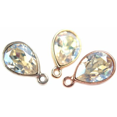 Wit Swarovski druppel Crystal Moonlight 14x10mm