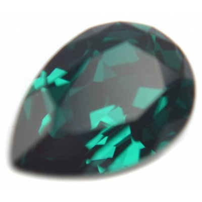 Groen Swarovski druppel Emerald 14x10mm
