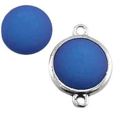 Blauw Polaris cabochon mat saffier blauw 11,5mm