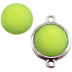 Groen Polaris cabochon mat peridot groen 11,5mm