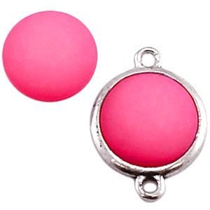 Roze Polaris cabochon mat soft rose pink 11,5mm