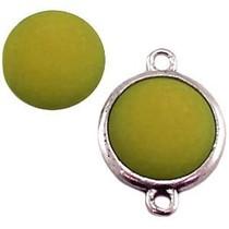 Groen Polaris cabochon mat olivine groen 11,5mm
