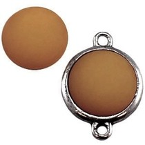 Bruin Polaris cabochon mat greige bruin 11,5mm